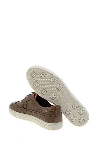 Bağcıklı Vizon Deri Ayakkabı