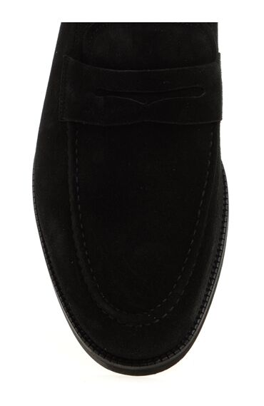 Siyah Süet Loafer