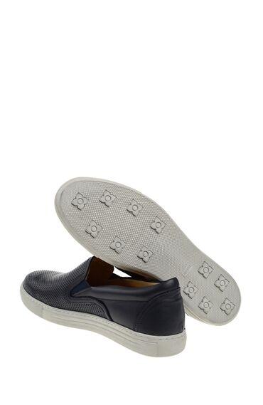 Lacivert Deri Loafer Ayakkabı