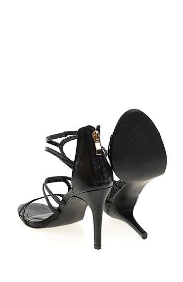 Topuklu Siyah Abiye Ayakkabı