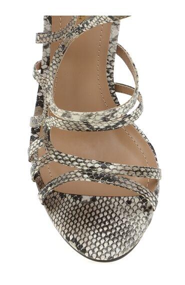 Topuklu Bej Abiye Ayakkabı
