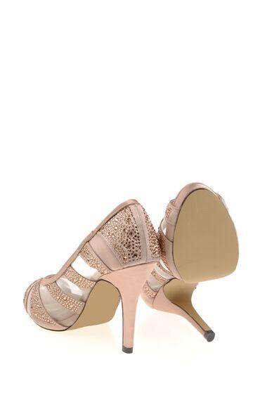 Topuklu Şampanya Abiye Ayakkabı