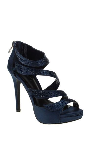 Topuklu Lacivert Abiye Ayakkabı