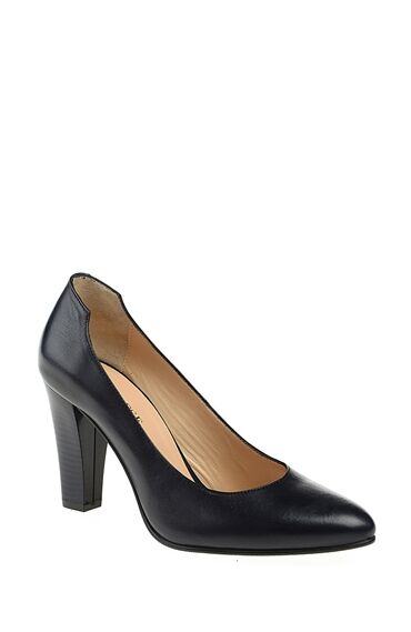 Lacivert Topuklu Gova Ayakkabı