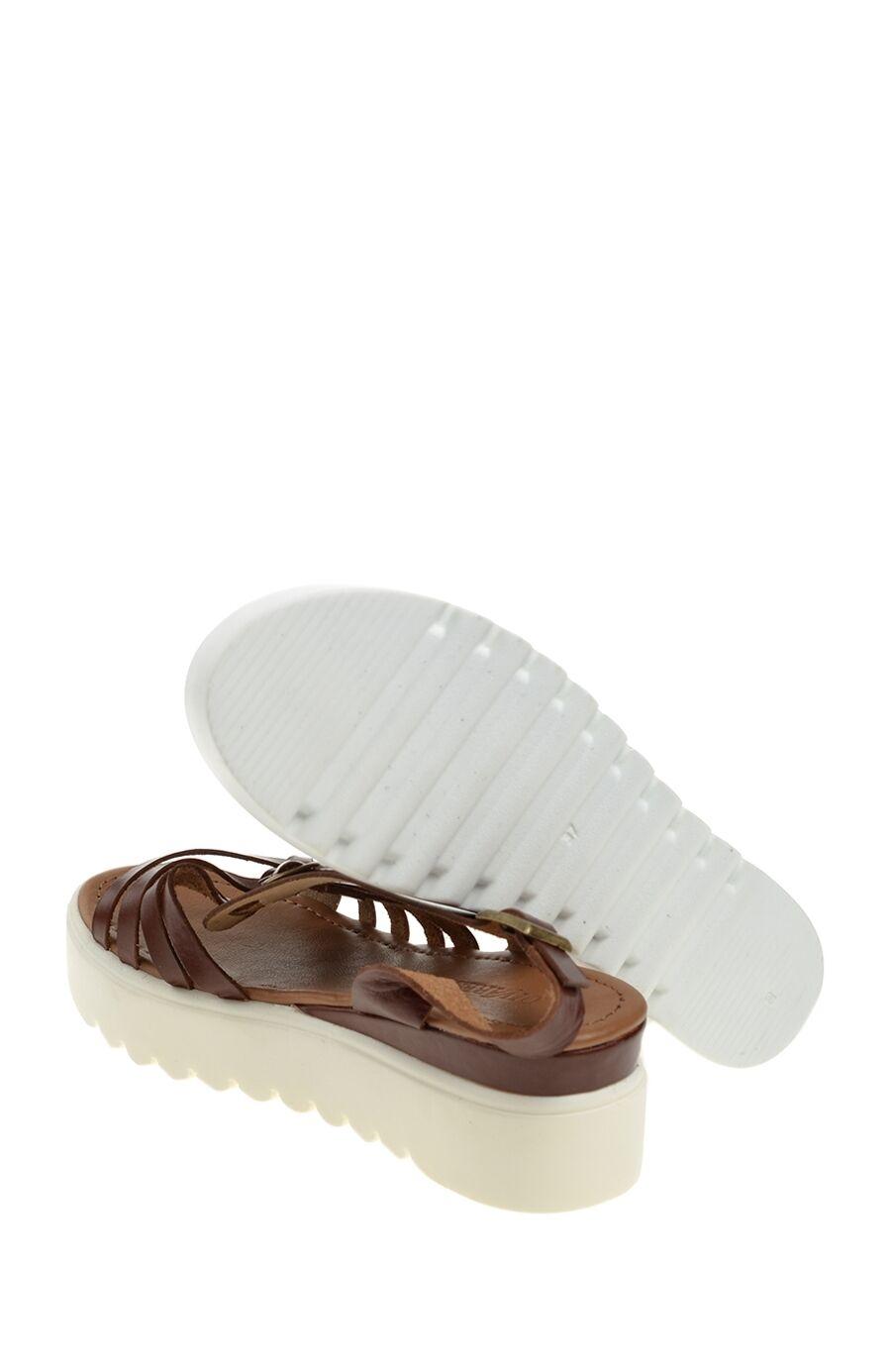 Fındık Rengi Deri Sandalet