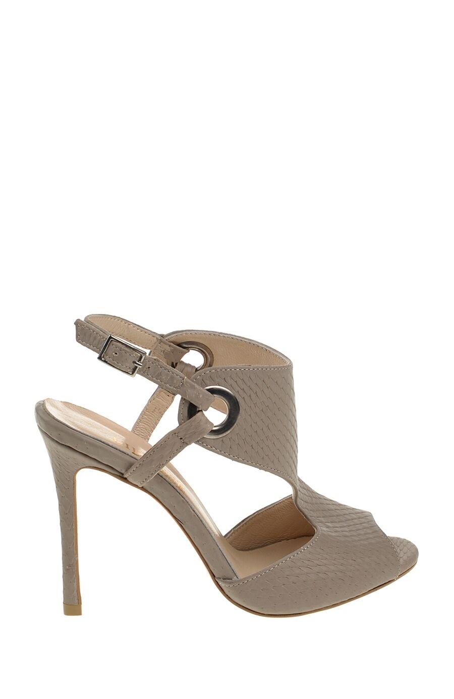 Topuklu Vizon Deri Ayakkabı