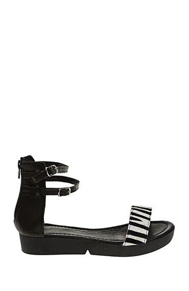 Siyah Deri Sandalet