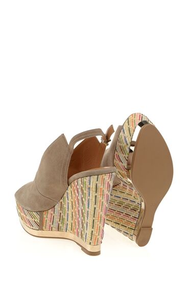 Dolgu Topuklu Vizon Ayakkabı