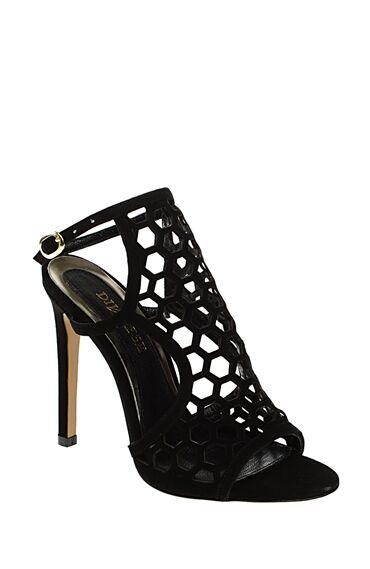 Topuklu Siyah Süet Ayakkabı