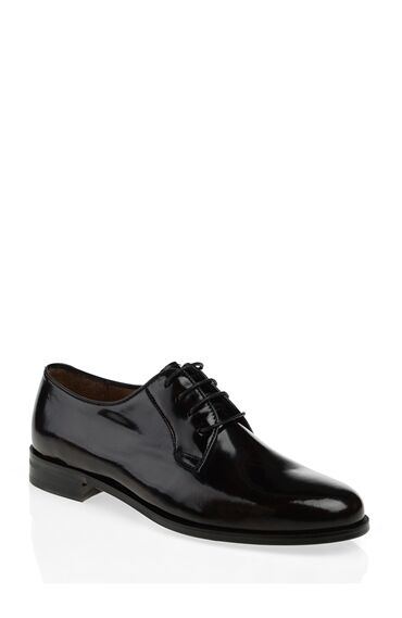 Siyah Deri Sophie Ayakkabı