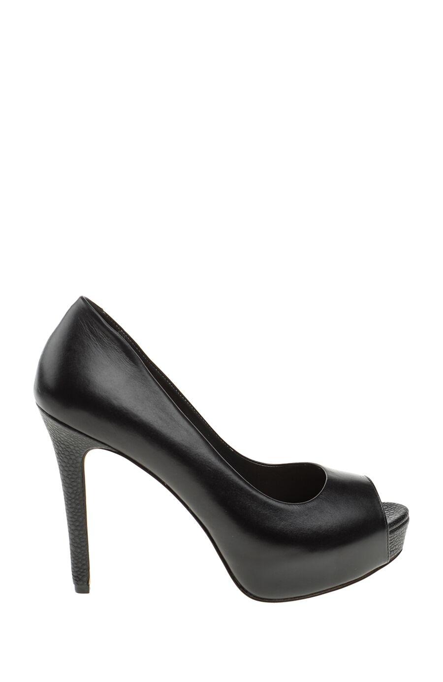 Topuklu Siyah Gova Ayakkabı