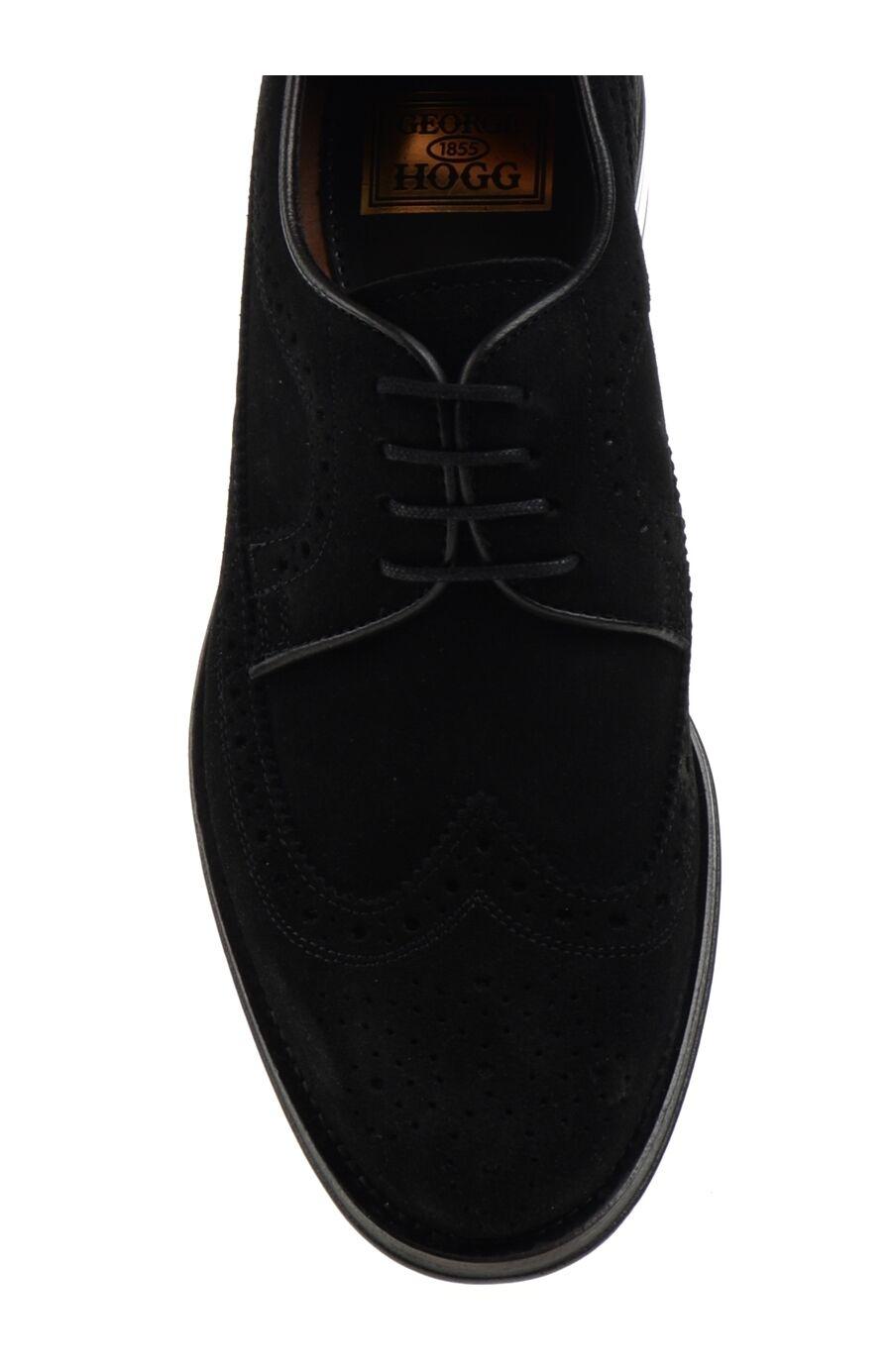 Bağcıklı Siyah Süet Ayakkabı