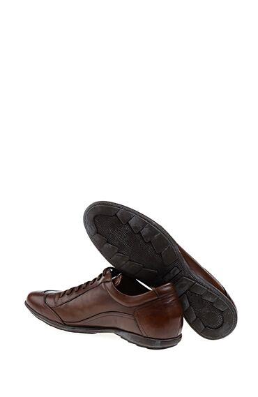 Taba Bağcıklı Deri Ayakkabı