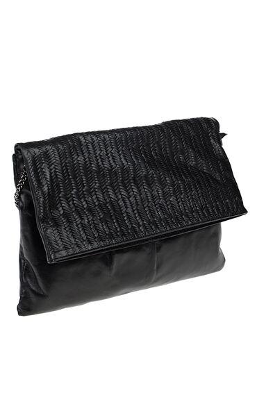 Askılı Siyah Deri Çanta