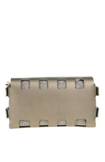 Zincir Askılı Bronz Çanta