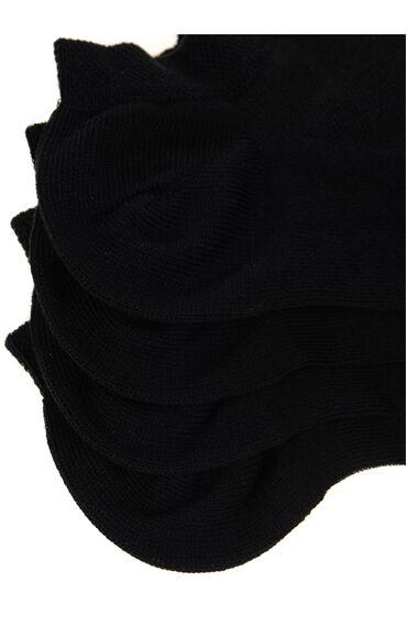 2 Li Siyah Patik Çorap