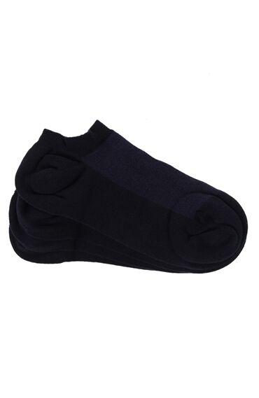 2 Li Lacivert Patik Çorap