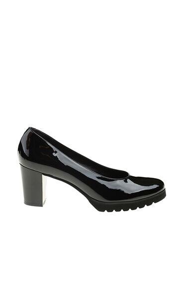 Siyah Kadın Rugan Ayakkabı