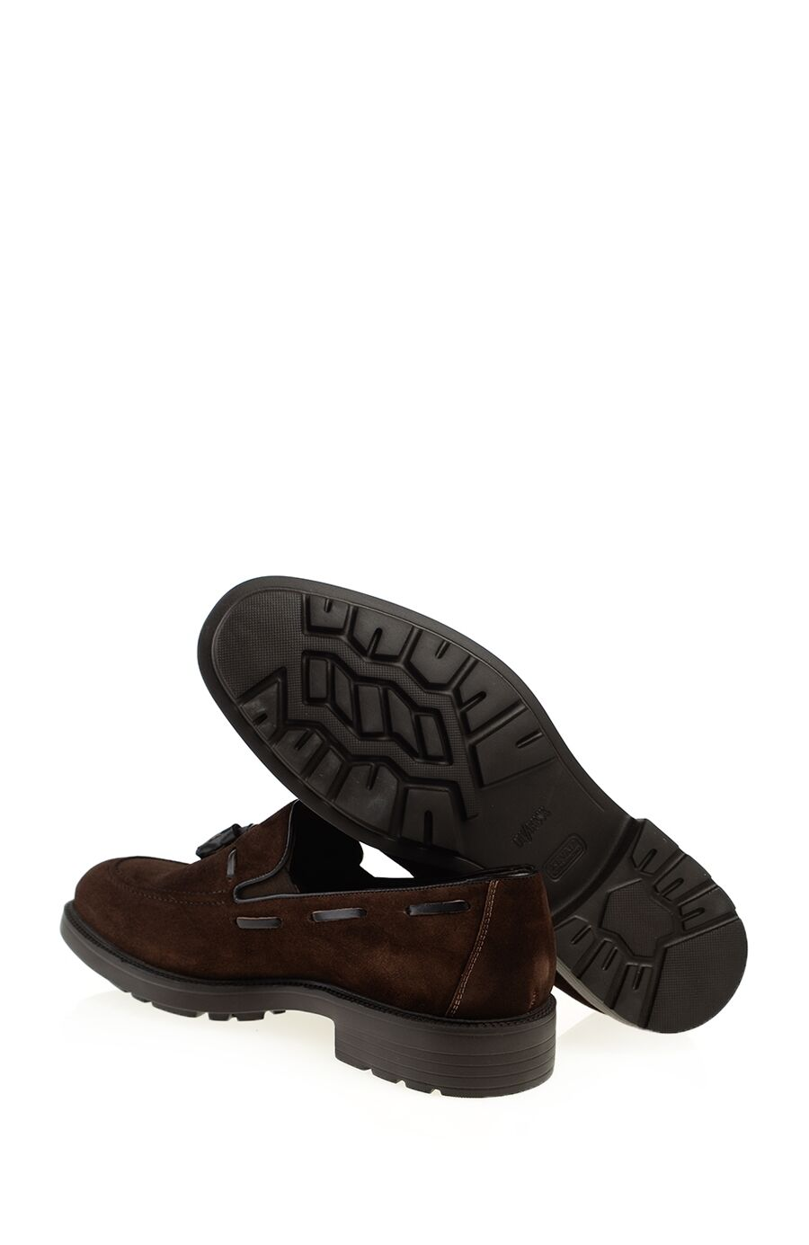 Kahverengi Süet Deri Loafer