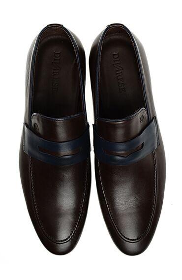 Kahverengi Deri Loafer