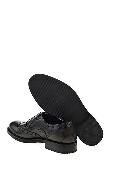 Gri Deri Brogue Ayakkabı