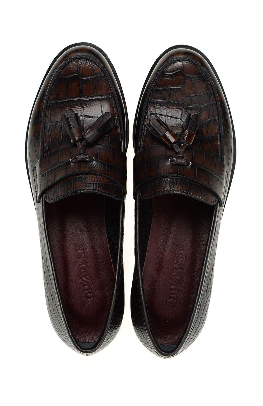 Bordo Deri Loafer Ayakkabı