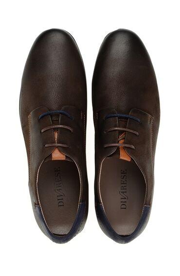 Kahverengi Deri Bağcıklı Ayakkabı