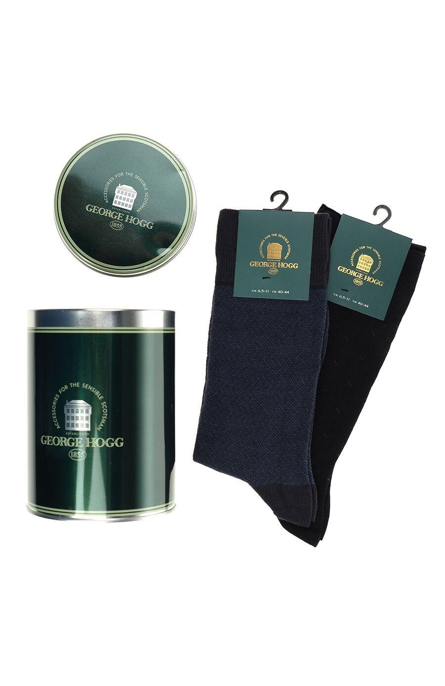 Siyah Indigo 2'li Çorap Set