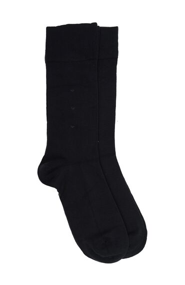 Bamboo Desenli Siyah 2'li Erkek Çorap Seti