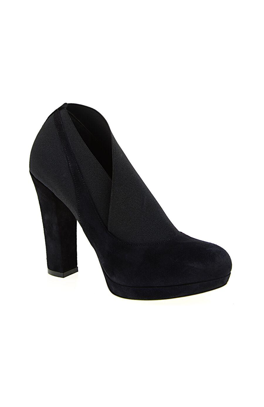 Lastik Detaylı Lacivert Ayakkabı