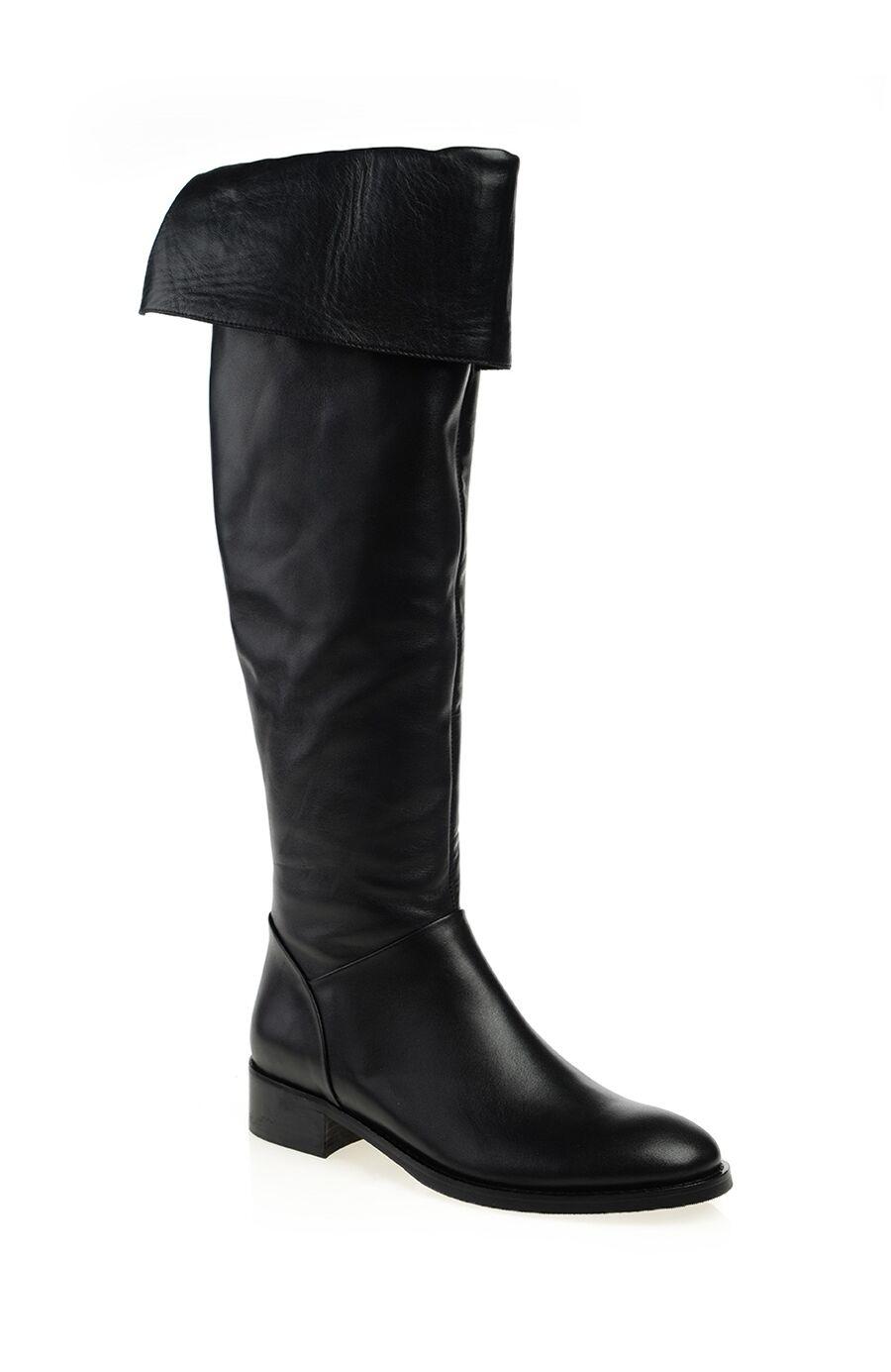 – Siyah Deri Çizme – 359.0 TL