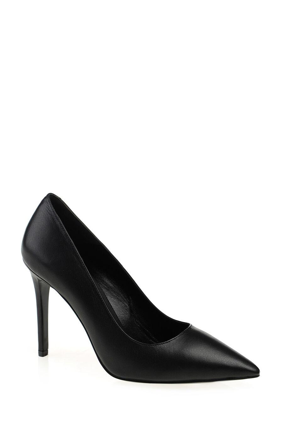Siyah Deri Gova Ayakkabı
