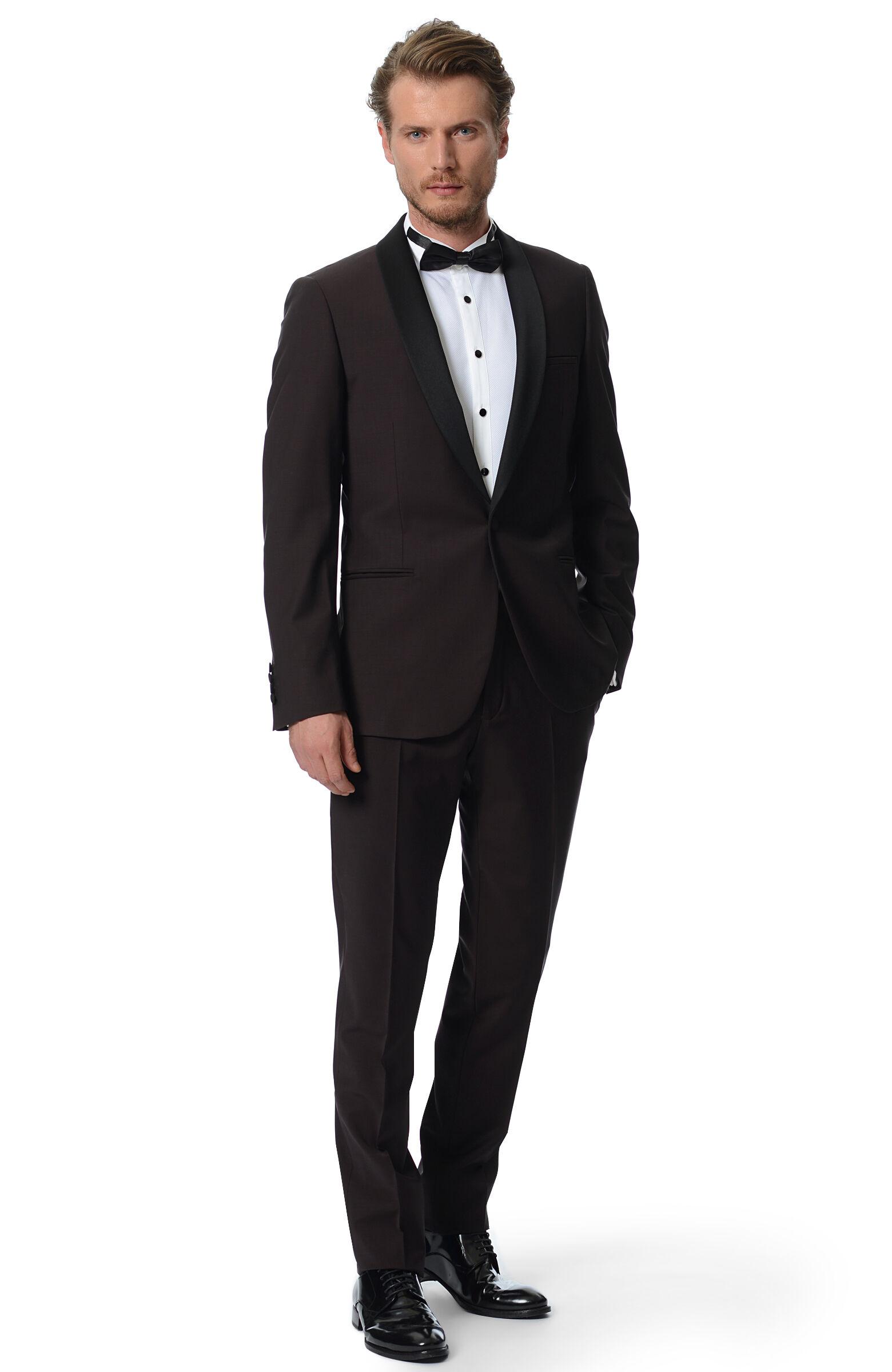 48 6N erkek Bordo NetWork ERKEK Üst Giyim Smokin Takım Elbise