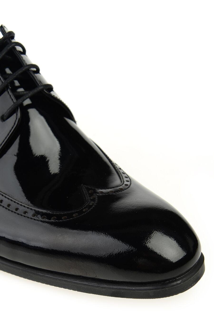 Siyah Açma Deri Ayakkabı