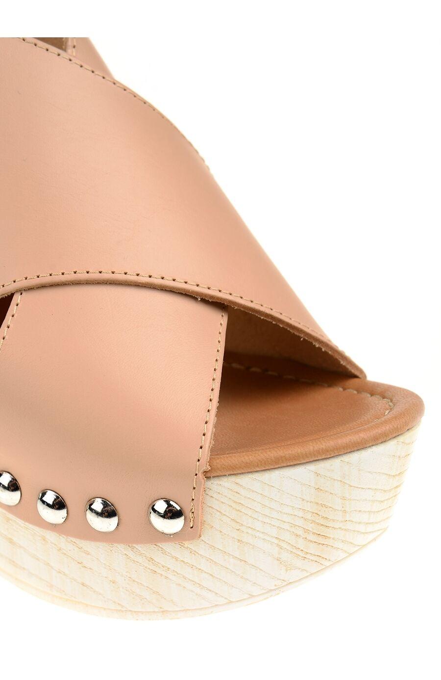 Çapraz Bantlı Bej Sandalet