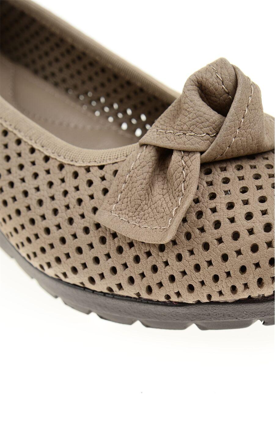 Platformlu Nubuk Vizon Ayakkabı