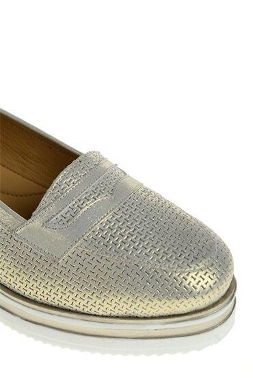 Bej Deri Loafer