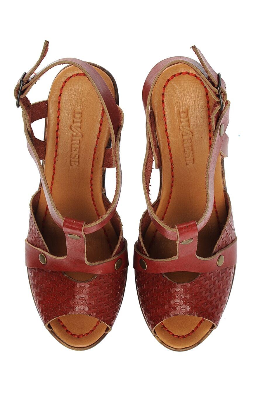 Kırmızı Deri Sandalet