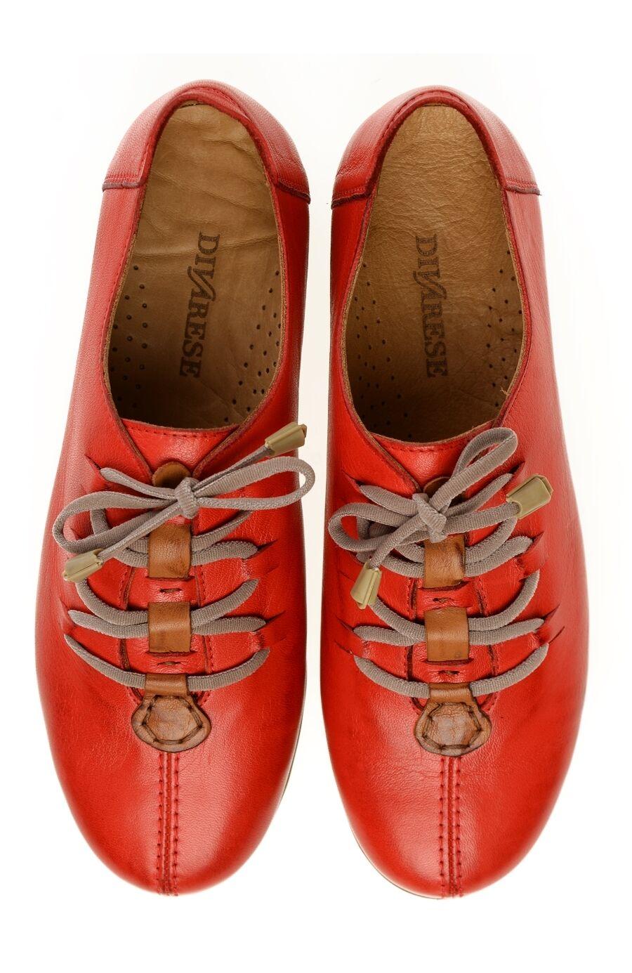 Bağcıklı Kırmızı Deri Ayakkabı