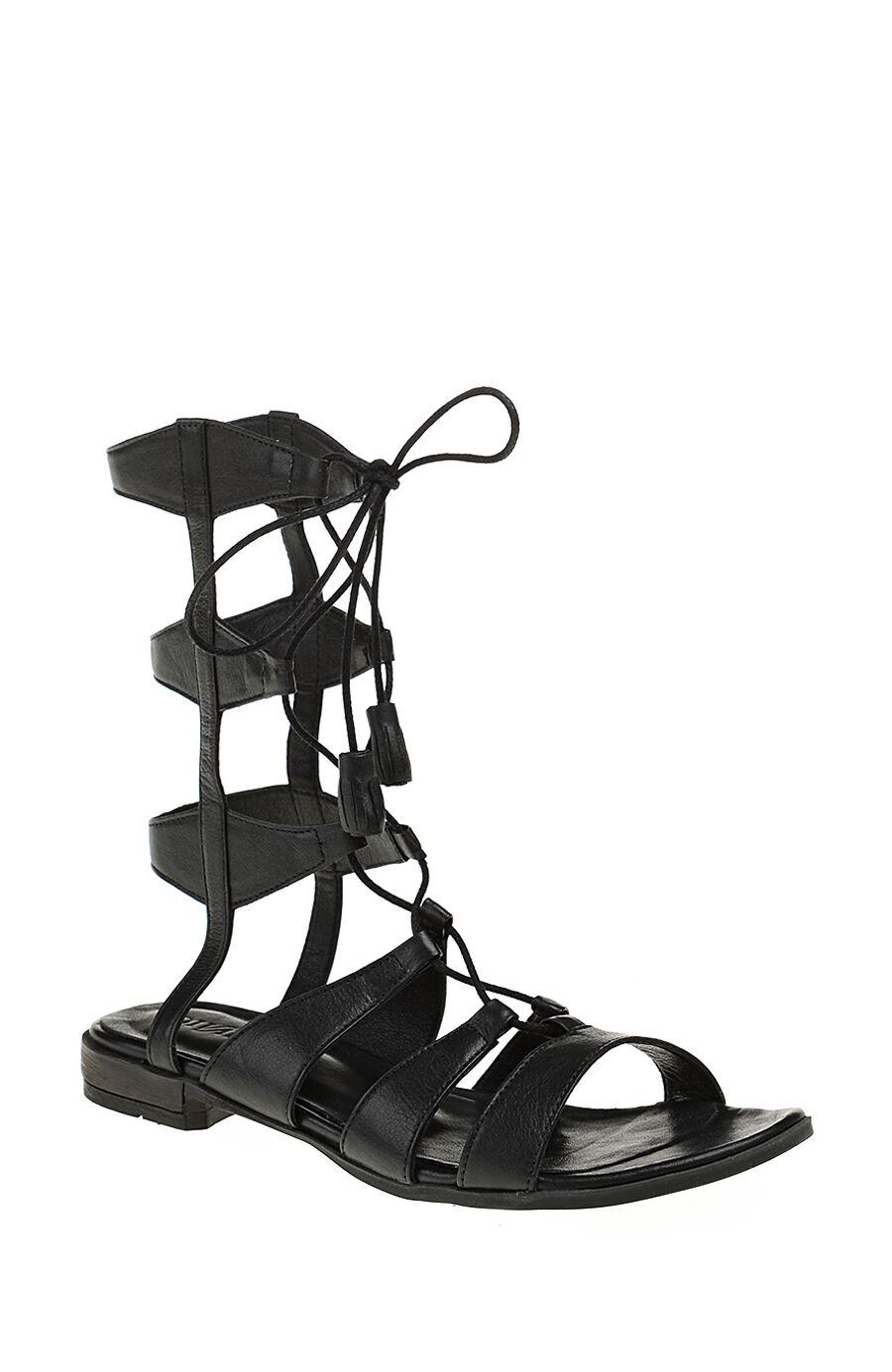 Dıvarese Siyah Deri Sandalet – 189.0 TL