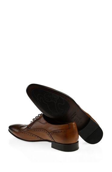 Taba Deri Kösele Ayakkabı