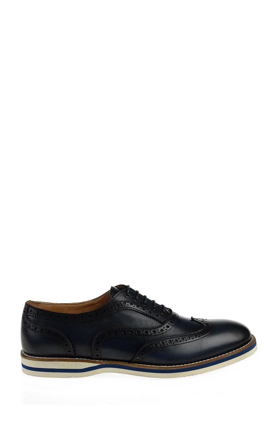 Lacivert Deri Daniel Ayakkabı