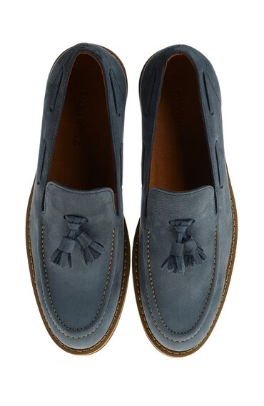 Nubuk Mavi Loafer