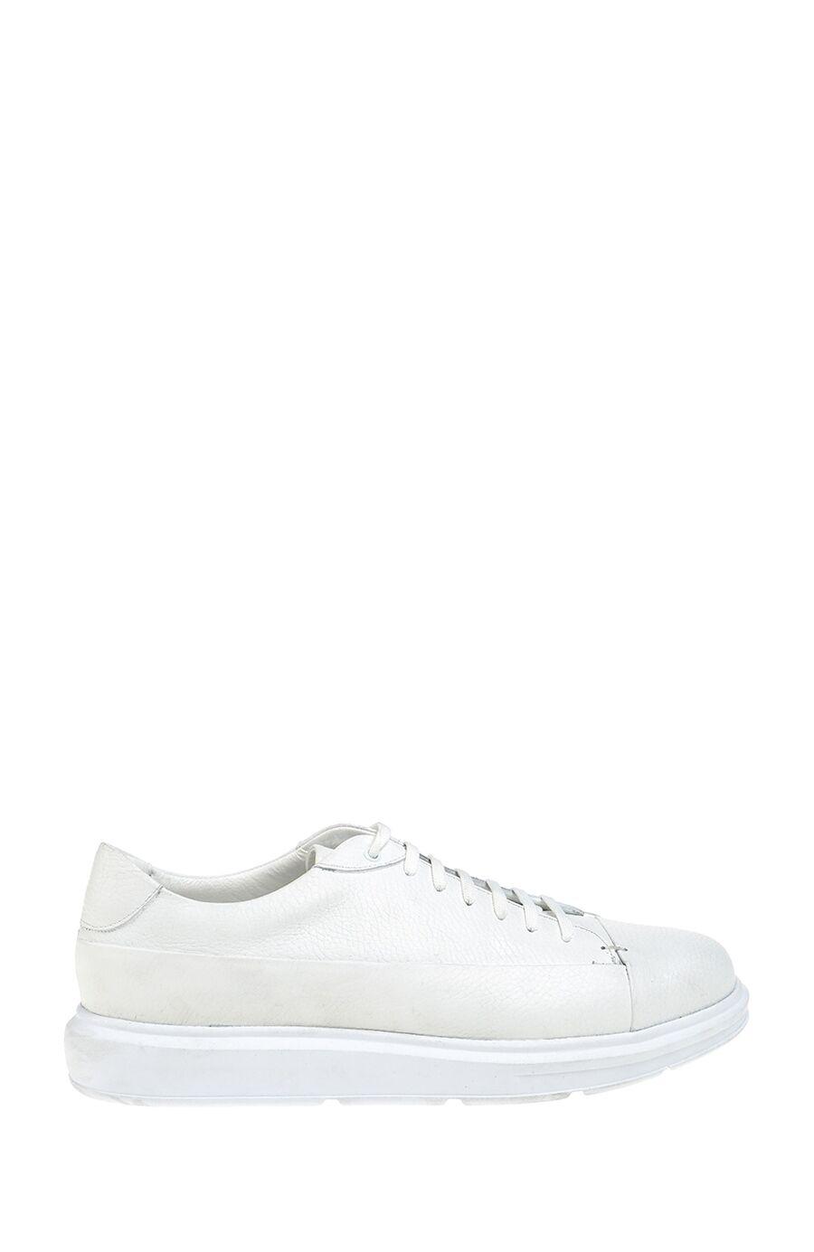 Bağcıklı Beyaz Deri Ayakkabı