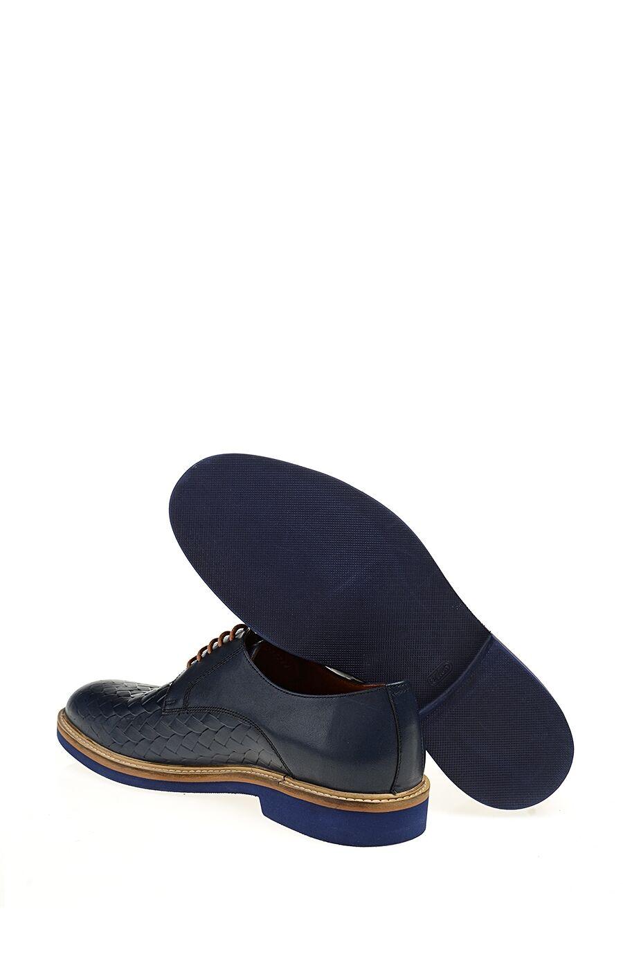 Bağcıklı Lacivert Deri Sneaker