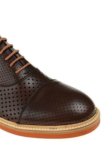 Bağcıklı Taba Deri Sneaker