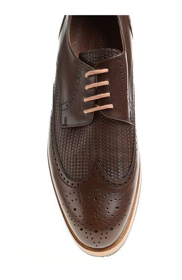 Taba Deri Bağcıklı Ayakkabı