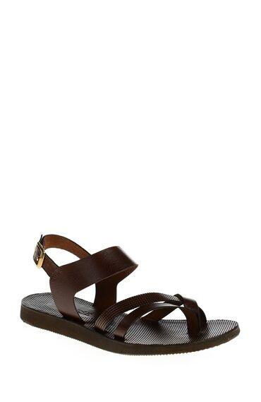 Bantlı Kahverengi Sandalet
