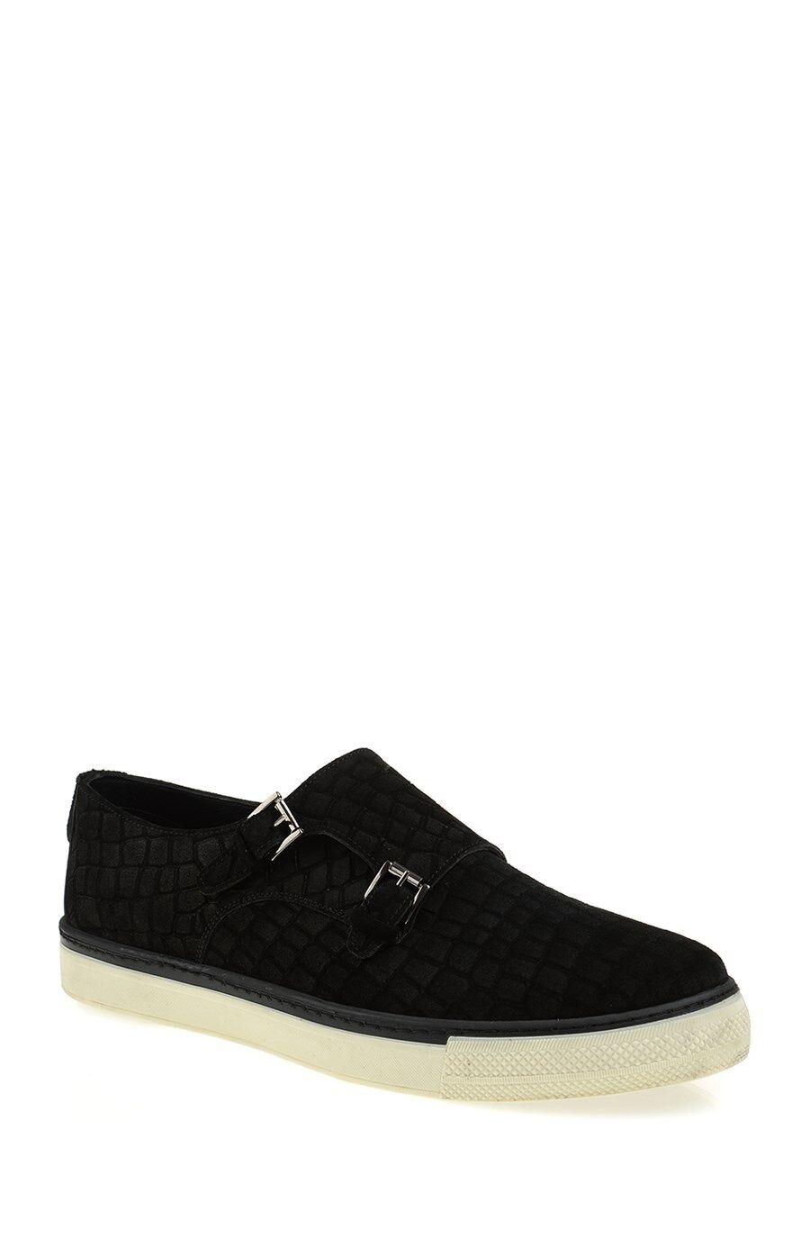 Krokodil Baskılı Siyah Ayakkabı