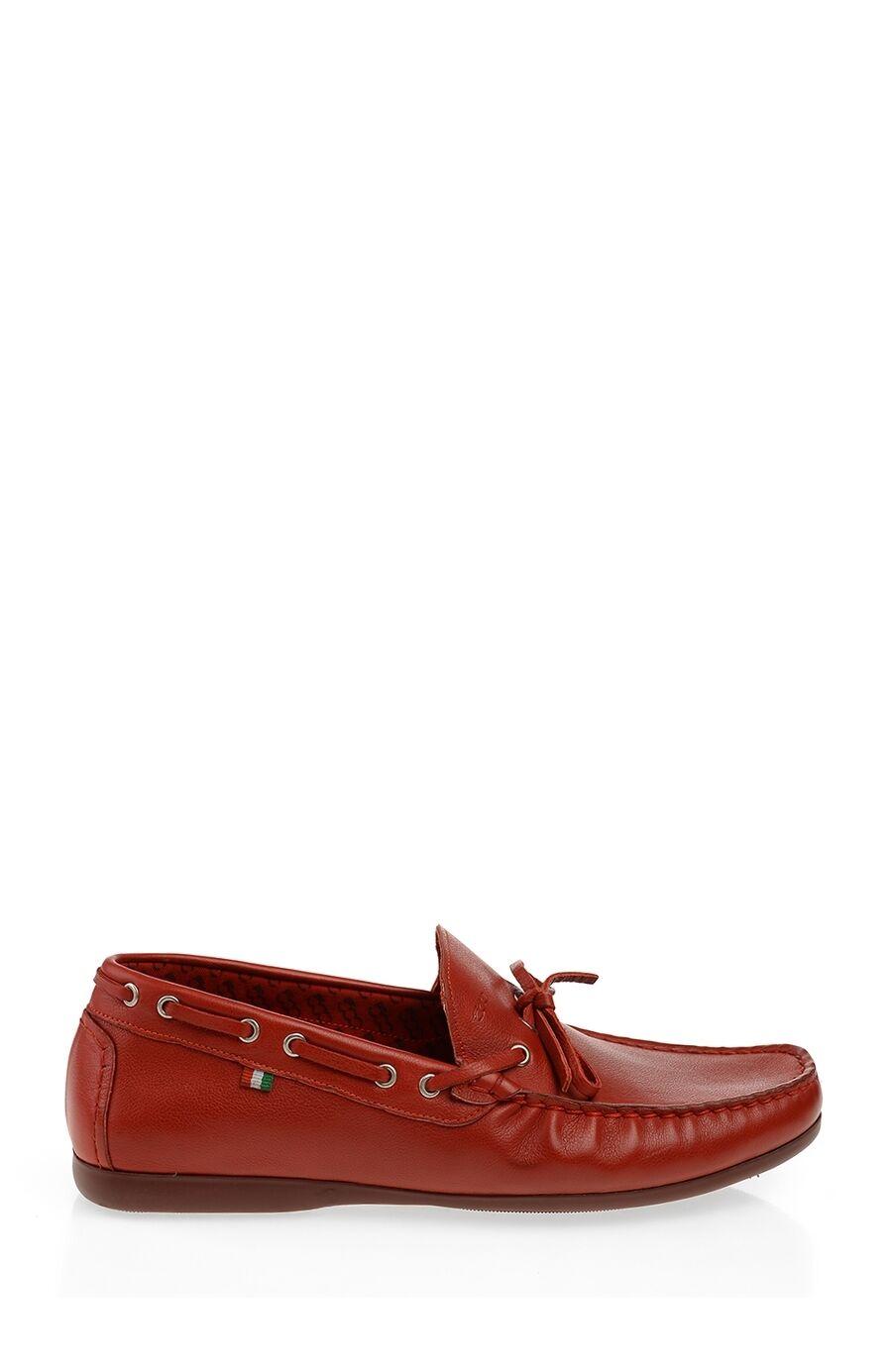 Kırmızı Deri Loafer